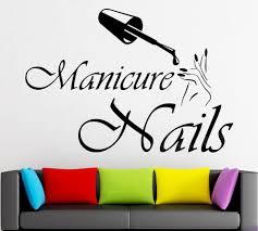 Manicure Nails <b>Pedicure Vinyl Wall Decal</b> Nails Polish Art Nail ...