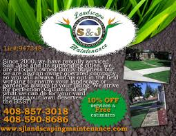 gallery welcome to s j landscaping and maintenanceca contractor company flyers