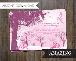 fairy birthday invitation instant editable printable 🔎zoom
