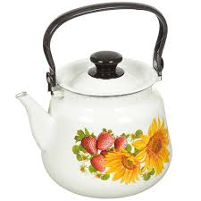 <b>Чайник эмалированный</b> КМК Керчь 43504-132/6, <b>3.5 л</b>, рисунок в ...