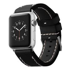 <b>Ремешок Cozistyle Leather Band</b> Black черный, для Apple Watch ...