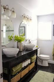 bathroom vanity mirror ideas modest classy: norden sideboard turned double vanity white as dominant black for furniture add some green middot bathroom double sink ideasikea
