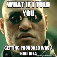 What if I told you Getting Provoked Was a Bad idea - What If I ... via Relatably.com