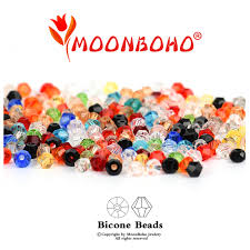 <b>4mm 6mm Bicone</b> Crystal Beads Glass Beads Loose Spacer Beads ...