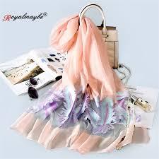 Royalmaybe <b>women's organza</b> silk summer scarf for <b>women</b> ...