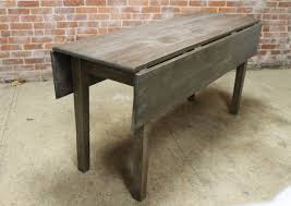 dining table leaf hardware: gorgeous rustic reclaimed oak drop leaf table built by hand from by ecustomfinishescom