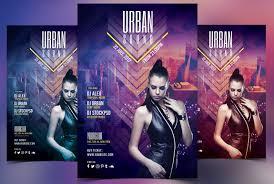 urban sound psd flyer template on behance