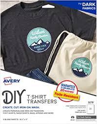 Avery Printable Heat Transfer Paper for Dark Fabrics ... - Amazon.com