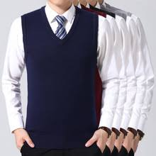 WENYUJH, новинка, Хлопковый вязаный пуловер, <b>мужской</b>, <b>v</b> ...