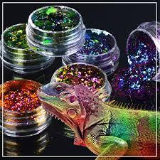 ZKO <b>2019</b> hot sell 1 box Chameleon Nail Sequins Glitter ...
