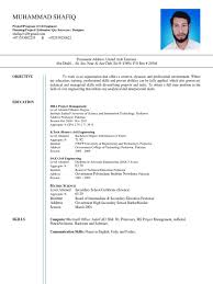 b tech civil engineer and mba project management resume cv
