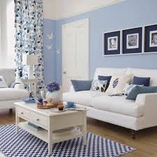 room cute blue ideas: interior wonderful decorate blue living room design ideas with white sofa and cute window curtain trends
