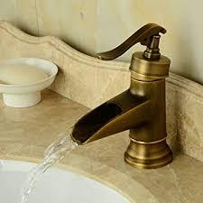 Hiendure® Centerset Single Handle Waterfall <b>Bathroom Sink</b> ...