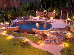 patio landscaping lighting ideas backyard landscape lighting