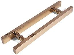 <b>Simple</b> Modern <b>Electroplated</b> Stainless <b>Steel</b> Push-pull Door Handle ...