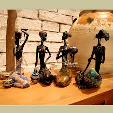 african style home accessories crafts decorations memorial cary sets four plump black woman ornaments african decor furniture