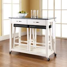 kitchen island cart wooden wheels