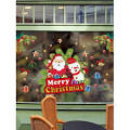 [34% OFF] 2020 <b>Christmas Santa Print Glass</b> Wall Stickers Set In ...