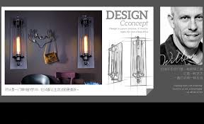 free shipping vintage style alcatraz island metal wall lamp black rust color wall sconce indoor deco cheap island lighting
