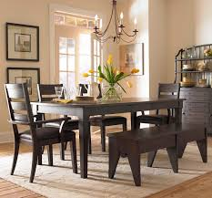 dining table interior design kitchen: furniture interior furniture vintage brushed bronze dining chandelier on dark wooden dining table and benches