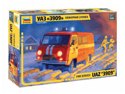 Сборная <b>модель</b> ZVEZDA УАЗ 3909 Пожарная служба (43001) <b>1:43</b>