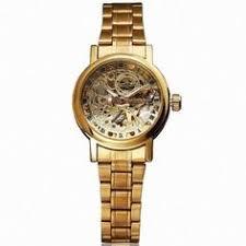 Luxury Gold <b>Skeleton Automatic</b> Wrist <b>Watch</b> Women <b>OUYAWEI</b> ...