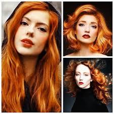 <b>Red head</b>. <b>Red hair</b>. Carrot orange hair color