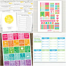 printable health and fitness planners and printable planner printable health and fitness planners and printable planner stickers glitter n spice