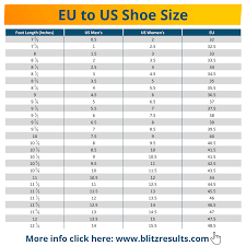 Shoe Size Conversion Charts   UK to US, EU to US   All Converters ...
