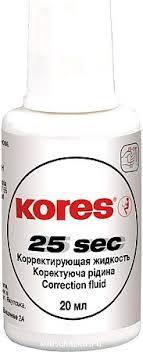 "<b>Корректирующая жидкость</b> ""<b>Kores</b>"" ""25 sec"", 20 мл, флакон с ..."