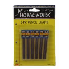 A Homework Mechanical Pencil Lead Refills     HB    PK   Case Of