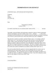 cover letter termination letter sample how to write termination contractletter of contract termination write termination letter