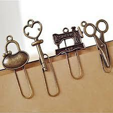 <b>2 Pcs</b>/<b>Set Vintage</b> Bookmarks Paper Clip Page Holder Stationery ...