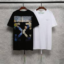 New Arrivals T-shirts <b>Men</b> Women OFF WHITE painting O-neck ...