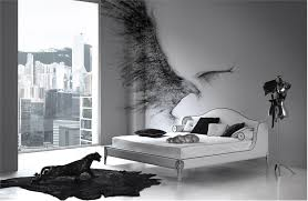 black and white bedroom simple interior design ideas with cute view from large windows black white bedroom design suggestions interior