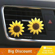 STRN_Cute <b>Sunflower Smile Face</b> Refresh Air Outlet Fragrant ...