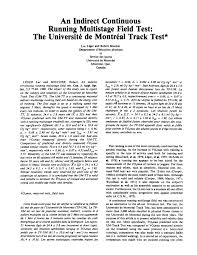 (PDF) An indirect <b>continuous</b> running multistage field test: the ...