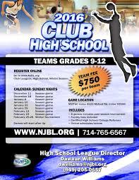 winter high school national junior basketball hs team flyer