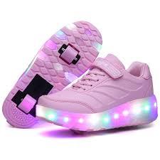 <b>Heelys LED</b> Light with Double Wheel Roller <b>Sneakers</b> | Girls <b>shoes</b> ...