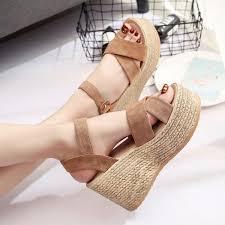 <b>Womens Shoes</b> Sandals Wedge Heels <b>Summer</b> High <b>Platform</b> ...