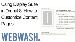 using display suite in drupal how to customize content pages using display suite in drupal 8 how to customize content pages webwash