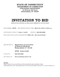 invitation to bid letter sample printable documents file invitation for bid