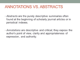 Apa Annotated Bibliography Multiple Authors SlidePlayer