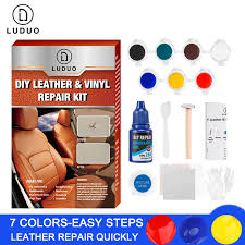 <b>LUDUO</b> Liquid Leather Vinyl Repair Kit Restorer Furniture <b>Car</b> Seats ...