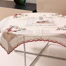 rectangular dining table cover cloth knitted vintage:  tablecloth lace table cloth knitted vintage dining table cover knitting hollow out banquet kitchen wedding