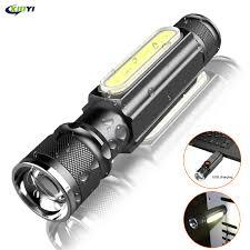 6000LM <b>USB</b> Rechargeable <b>Multifunctional LED Flashlight</b> Built in ...