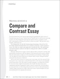 compare and contrast example essaychases   say to know on