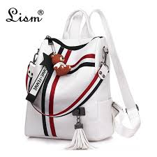 <b>bags for women</b> 2019 new retro fashion zipper <b>ladies</b> backpack PU ...