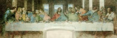 the davinci code the picture as a whole has two major images the first is the central focus on jesus he is in the center the apostles giving separation so that he