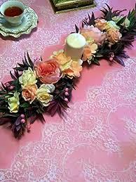 Pinkdose® <b>White</b>: <b>3M</b>/<b>Lot Eyelash</b> Lace Fabric Width 46Cm DIY ...
